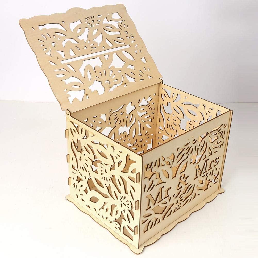 rethyrel Bo/îte Cartes Bois pour Mariage Fournitures De Bricolage Faciles /À Assembler pour Un Anniversaire De Mariage