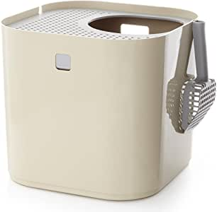 Modkat Litter Box includes Scoop and Reusable Liner (Tan)