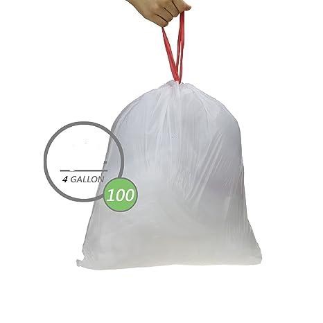 Bolsas de basura resistentes, tamaño D, 15 litros, 42 bolsas ...