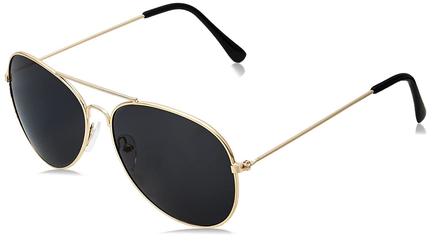 Amazon.com  WearMe Pro - Polarized Metal Frame Pilot Style Aviator  Sunglasses (Spring Hinge  Gold Black a62d7981ae4