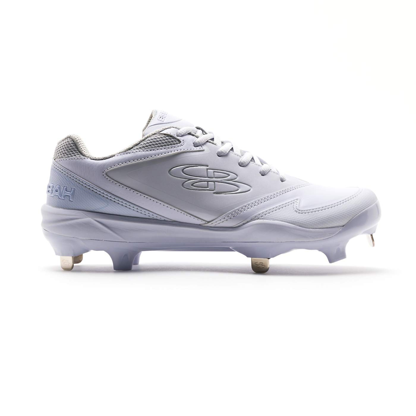 Boombah Women's A-Game Metal Cleats White/White - Size 9 by Boombah