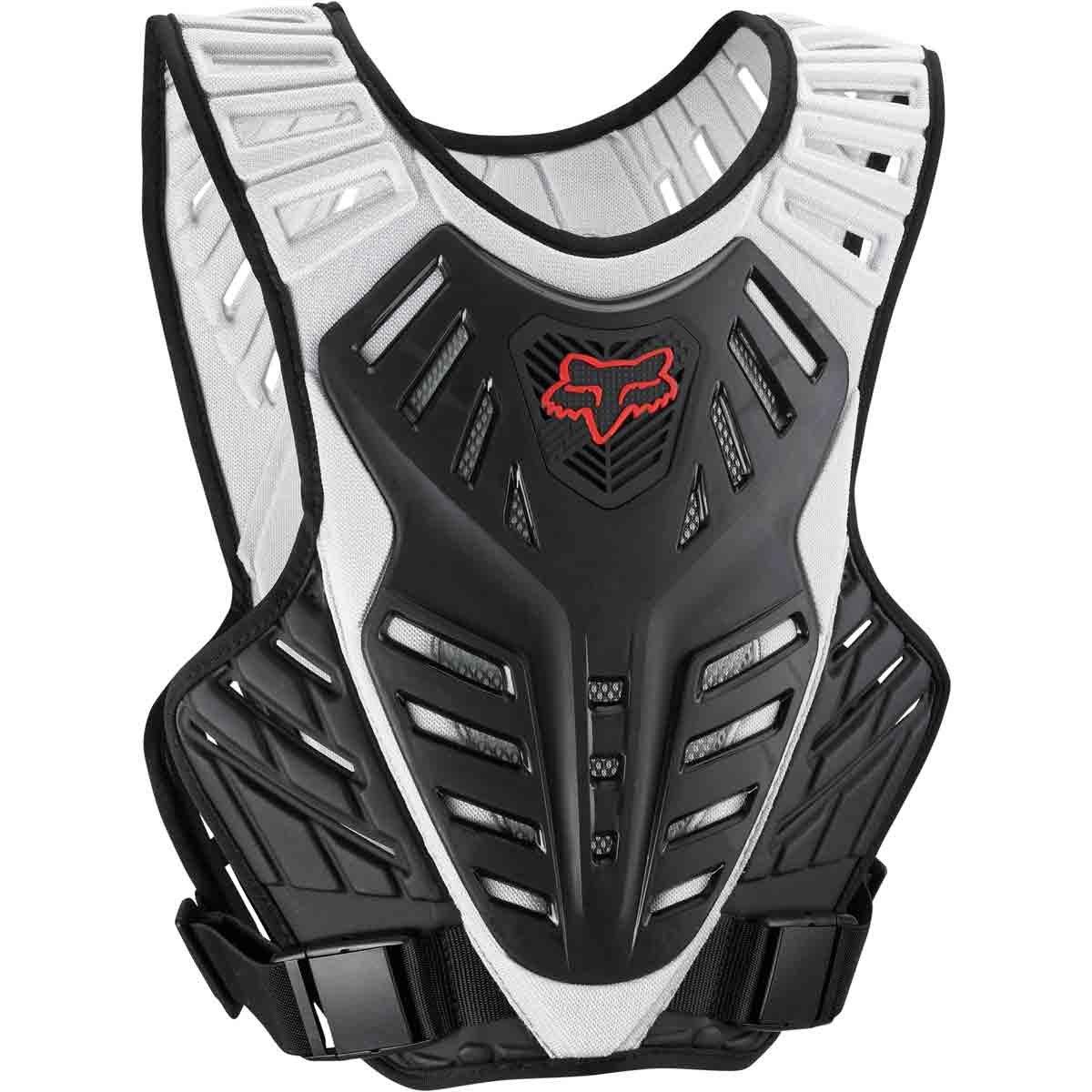 Fox Racing Titan Race Subframe Men's Roost Deflector Motocross Motorcycle Body Armor - Black/Silver/Medium/Large