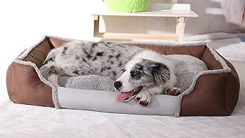 Lamzoom Camas de Perro terapéutico Apoyo cálido Perro Cama Lavable Lujo Suave Lavable Cesta Cama cojín