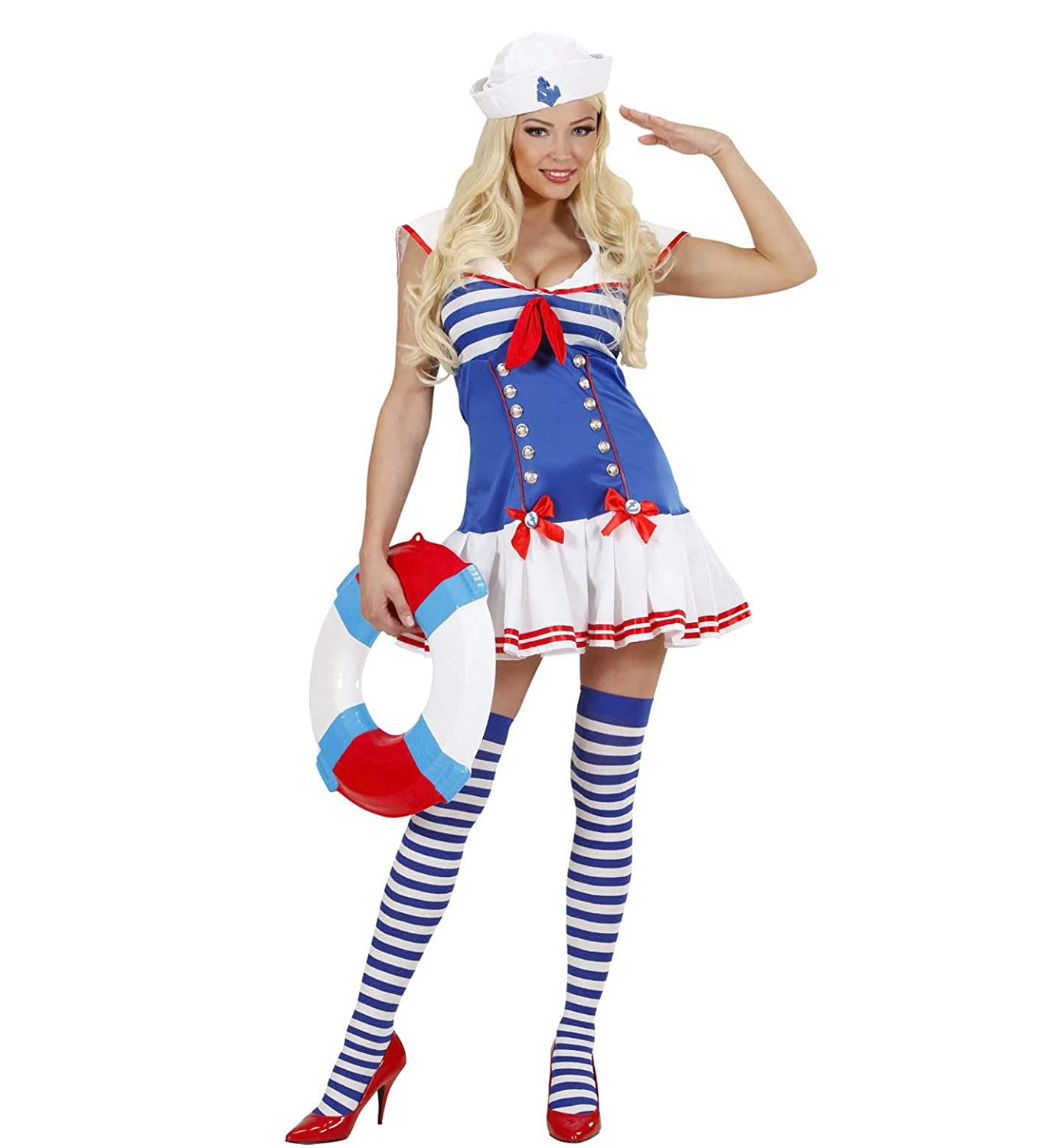 Ladies Sailor Girl Costume Large UK 14-16 for Navy Sea Fancy Dress Amazon.co.uk Toys u0026 Games  sc 1 st  Amazon UK & Ladies Sailor Girl Costume Large UK 14-16 for Navy Sea Fancy Dress ...
