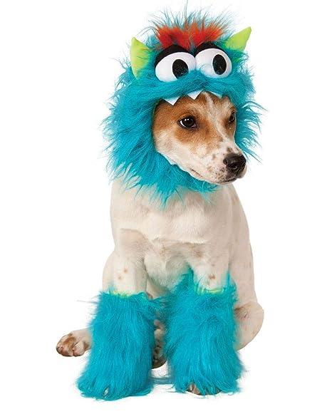 Monster felpa azul del perro del traje M: Amazon.es ...
