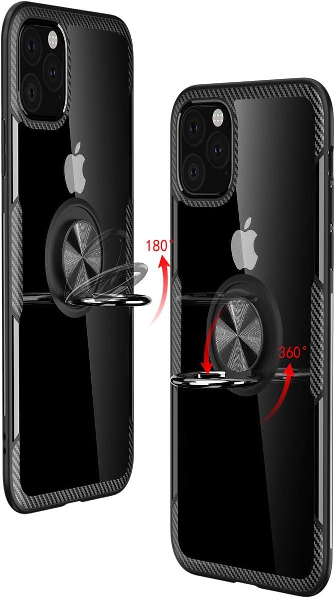 Coque iPhone 11 Pro avec Aimant Anneau SupportProtection Robuste Bumper Coque Antichoc pour iPhone 11 Pro