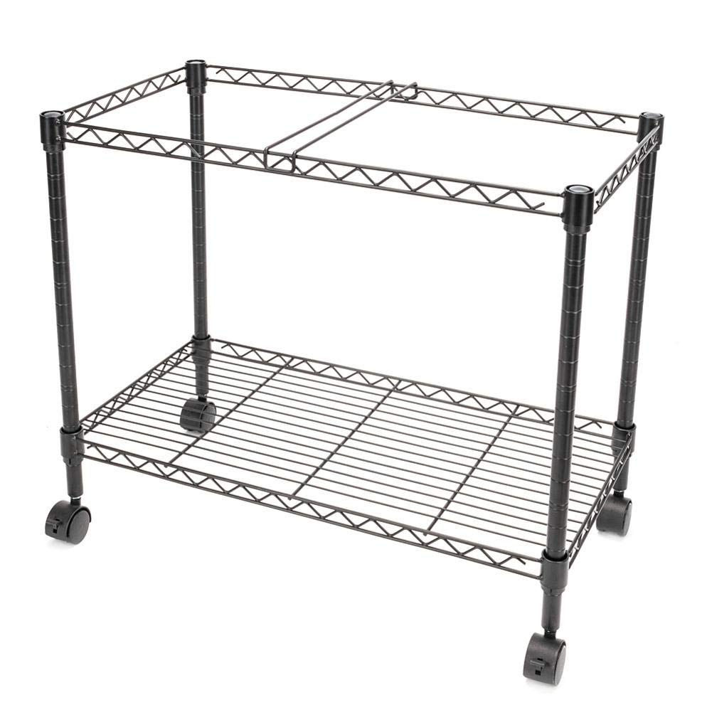 23.6 x 12.6 x 18 Single Tier,Black,600x320xh460mm,for Classroom Office Living Room Metal Rolling Mobile File Cart,Single Layer File Frame Home Office Etc