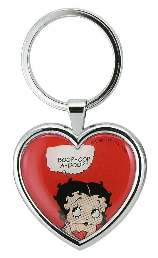 Llavero de metal con diseño de corazón de Betty Boop: Amazon ...