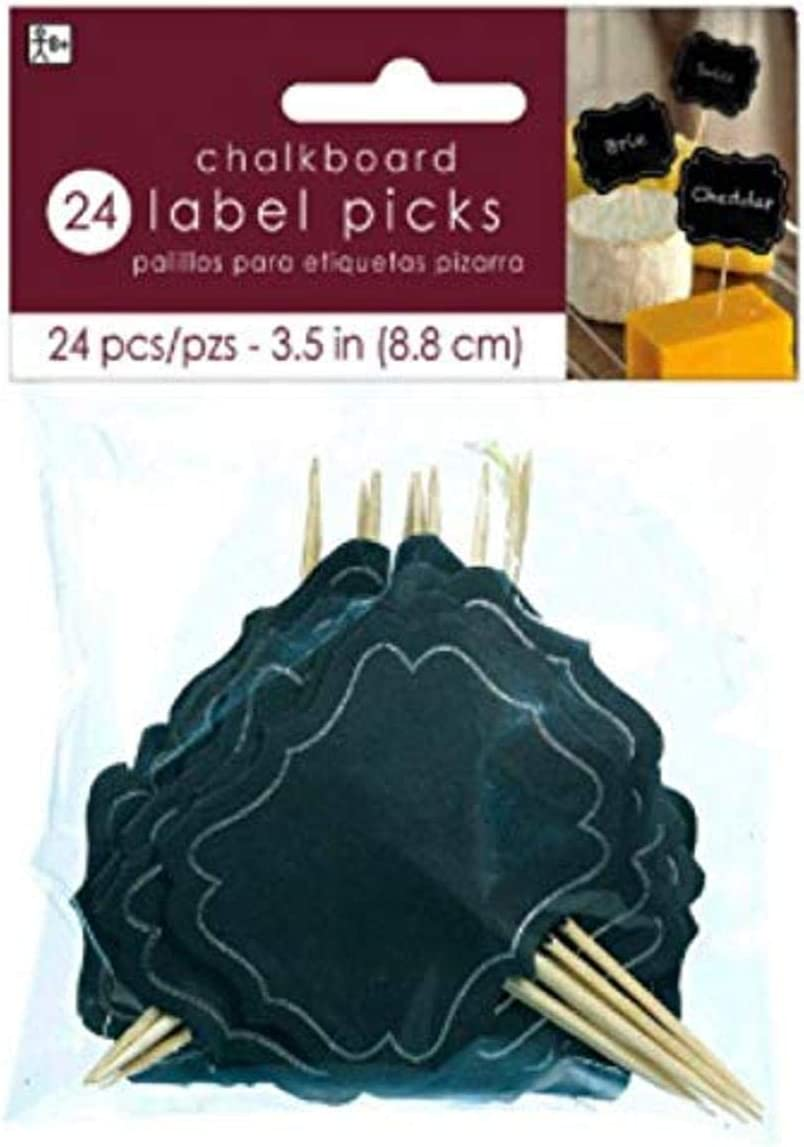 amscan Chalkboard Picks | Black, 3.5