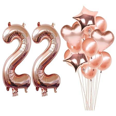 MAGJUCHE 40 Pulgadas Rose Gold 22 cumpleaños Helio Jumbo ...