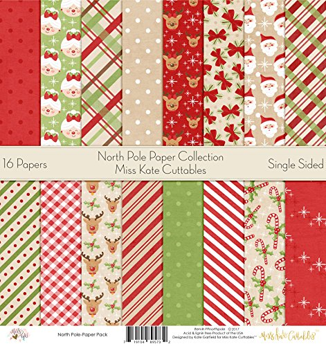 Pattern Paper Pack - North Pole - Scrapbook Card Stock Single-Sided 12
