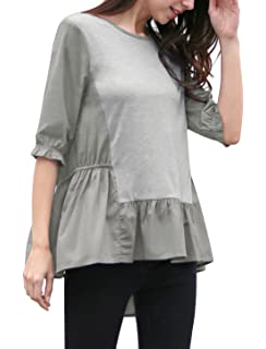 e6cb704c5deb7 Meaneor Women s Long Sleeve Layered Plus Size knitted high-low hem ...