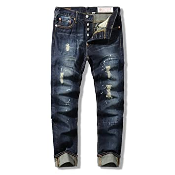 Men s Casual Jeans, vaqueros de hombre, Vintage pantalones, pantalones de hombre