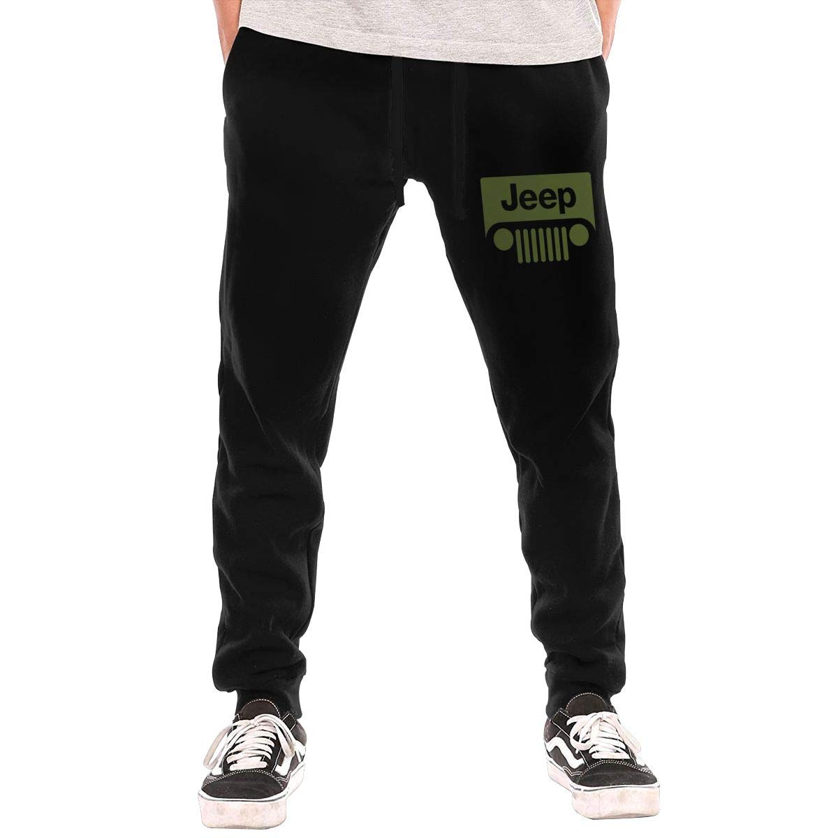 Mens Jeep Logo Fashion Sweatpants Workout Athletic Jogger Long Pants