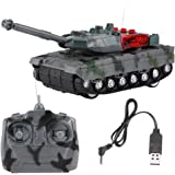 RC Tank Electric Remote Control Model Toy 4 Channels Simulation Tank for Children Gift