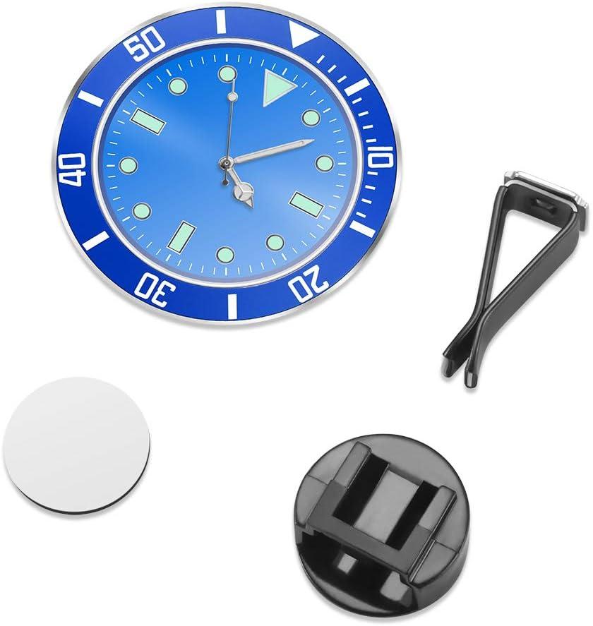 4 PCS, Black with 3M Sticker ALLOMN Car Clock 5/×5cm Car Air Vent Clock Automobile Quartz Clock Car Decoration Clock Car Dashboard Clock Luminous in Night