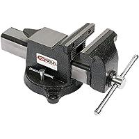 KS Tools 914.0046 Etau à mors parallèles, 150 mm, Noir/Gris