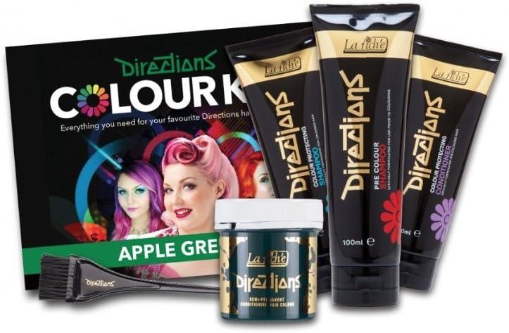 Manzana verde kit de tinte de pelo - Direcciones