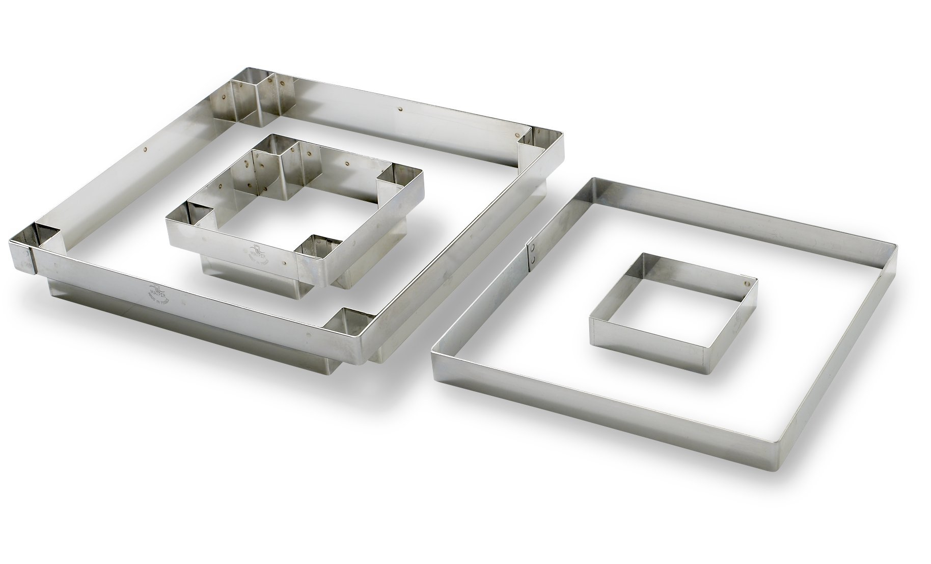 Matfer 371123 Square Tart Mold, Stainless Steel
