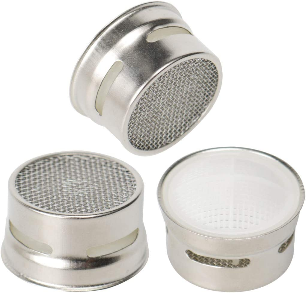 sourcing map 2pcs 19mm Stainless Steel Faucet Aerators Insert Replacement Part Water Filter Adapter Faucet Flow Restrictor Accessory