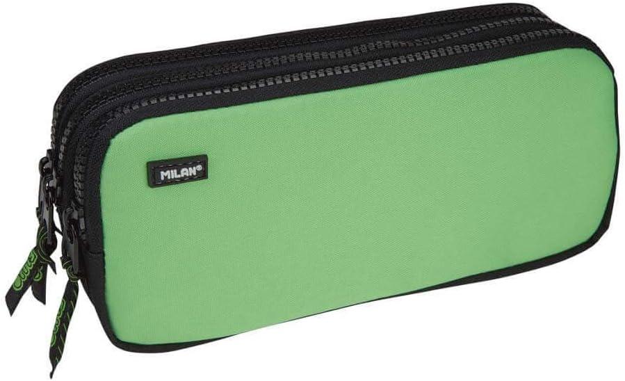 Portatodo Triple Milan Fluo Green: Amazon.es: Oficina y papelería