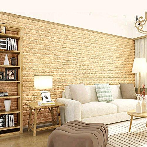 WitHome 2 PCS Fake 3D Wallpaper Brick, Pattern Wall Stickers Self ...