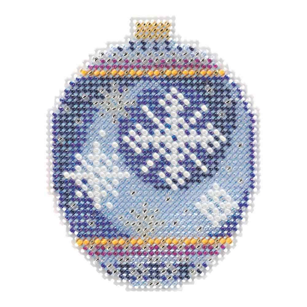 Midnight Snowfall Beaded Counted Cross Stitch Ornament Kit Mill Hill 2018 Beaded Holiday MH211815
