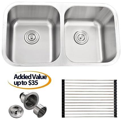 Prime Buy Kitchen Sink Comllen Best Commercial 32 Inch Double Interior Design Ideas Truasarkarijobsexamcom