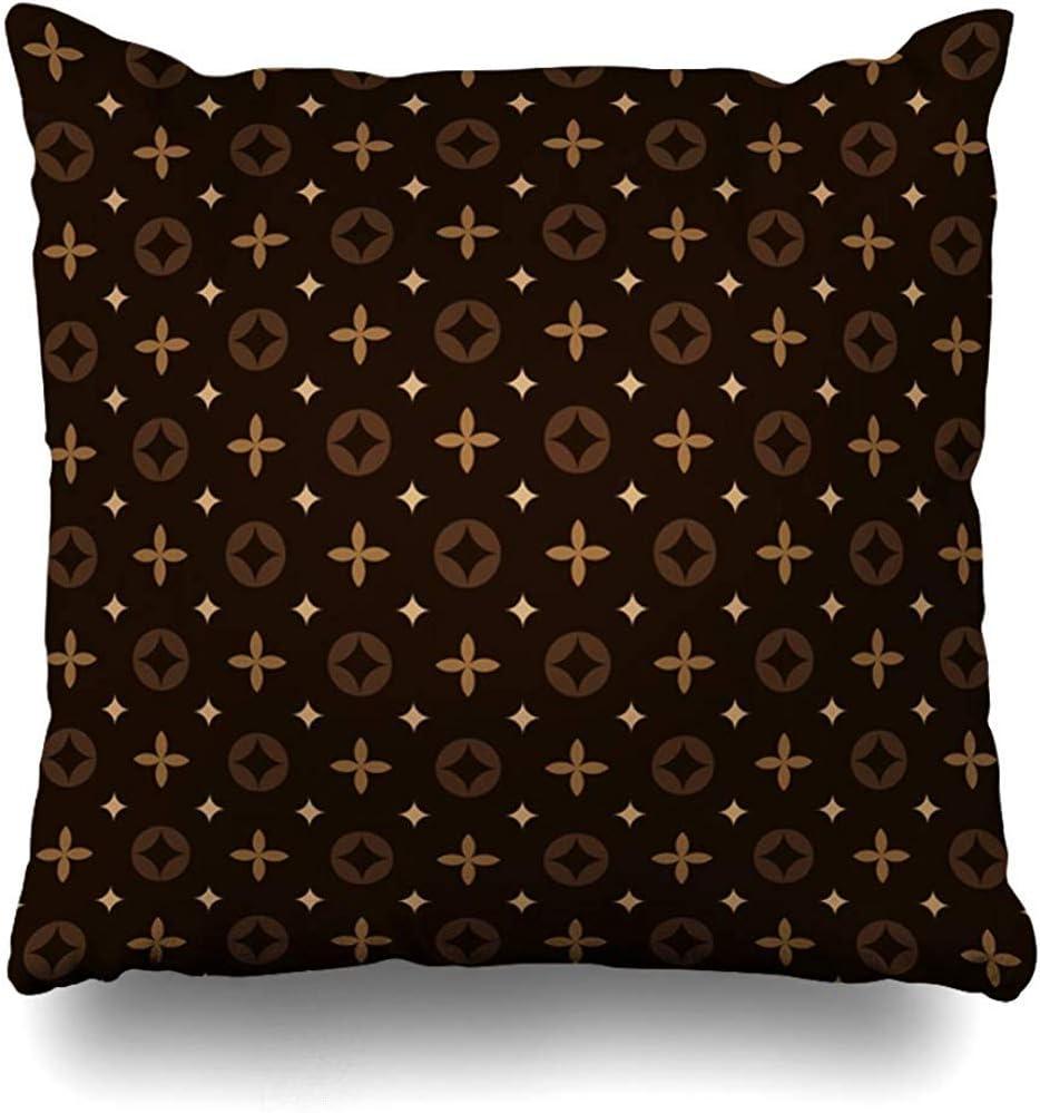 Darlene Ackerman(n) Funda de Almohada Maleta Patrón Floral geométrico en Chal Vintage Louis Classic Blossom Canvas Pillowcase
