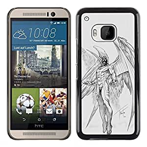 Plastic Shell Protective Case Cover || HTC One M9 || Wings Angel Sketch @XPTECH