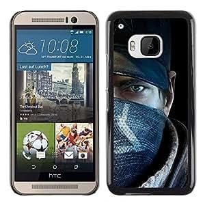 Shell-Star Arte & diseño plástico duro Fundas Cover Cubre Hard Case Cover para HTC One M9 ( Rebel Man )