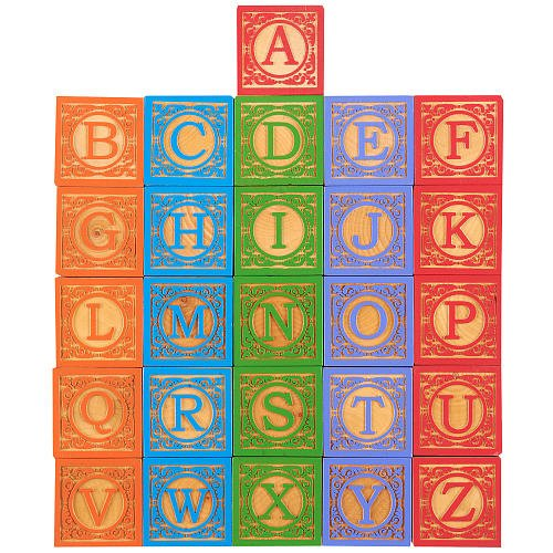 [FAO Schwarz Classic Wooden ABC Blocks 26 Pieces] (Animals That Start With The Letter E)