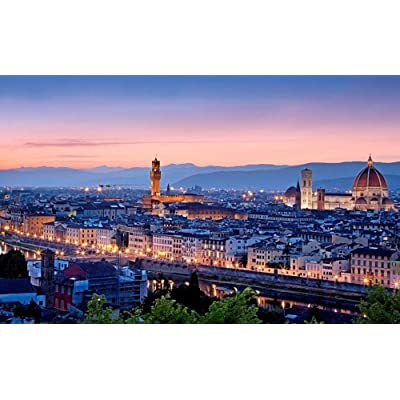 SJYYR Overlooking The Cityscape of Florence, Italy Jigsaw Puzzle 1000 Piece Child DIY Modern Wall Art Unique Gift Home Decor Exercise The Brain: Toys & Games