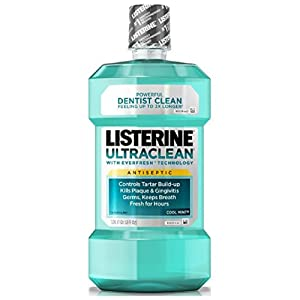 Listerine Ultra Clean Antiseptic Mouthwash, Cool Mint 1.8 oz ( Pack of 2)