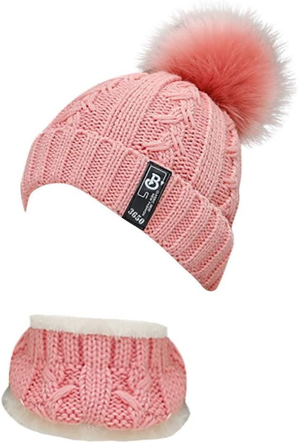 Knitted Wool Venonat Beanie Hat+Scarf Winter Keep Warm 2Pcs Set for Party Sports Jogging Bicycling Dancing Skating Skiing Women Outdoor Knitted Hat