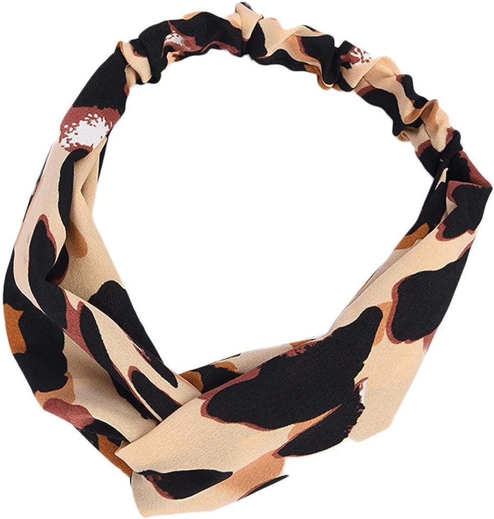 Dorical Leopard Headband Leopard Print Headwraps Leopard Print Knotted Headband New Chic Leopard Print Accessories Retro Headbands