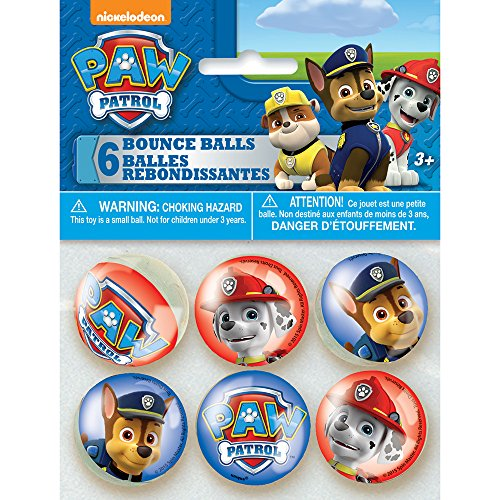 PAW Patrol Bouncy Ball Party Favors, (Party Store Logo)