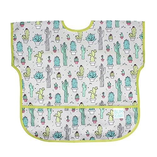 Bumkins Junior Bib / Short Sleeve Toddler Bib / Smock 1-3 Years, Waterproof, Washable, Stain and Odor Resistant –  Cactus
