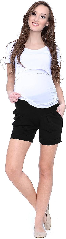 MijaCulture Short de maternit/é Court//Pantalon de maternit/é pour Le Coton d/ét/é 1047