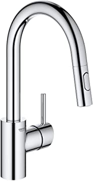 Grohe 31479001 Concetto Single Handle Kitchen Faucet Starlight Chrome Amazon Com
