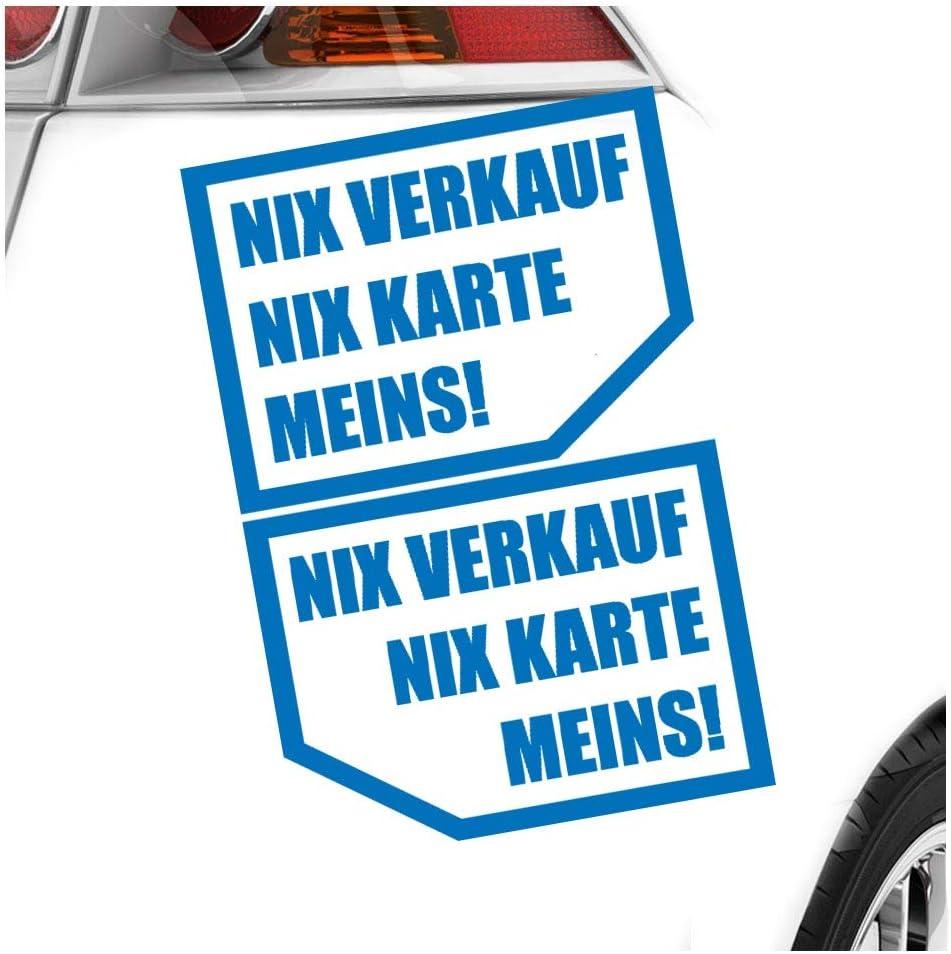 Kiwistar Nix Nix Karte Meins 10x 7 Cm In 15 Farben Neon Chrom Sticker Aufkleber Auto