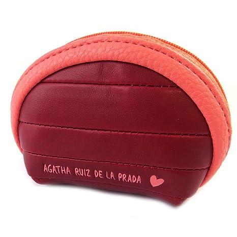 Monedero con cremallera Agatha Ruiz De La Pradade color rojo - 10x7x4 cm