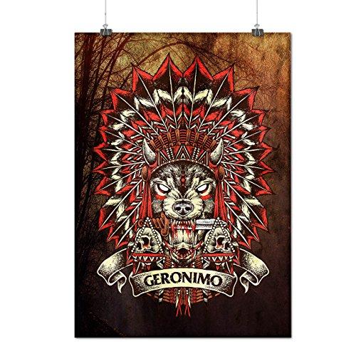 Geronimo Skull Horror Matte/Glossy Poster A2 (60cm x 42cm) | Wellcoda