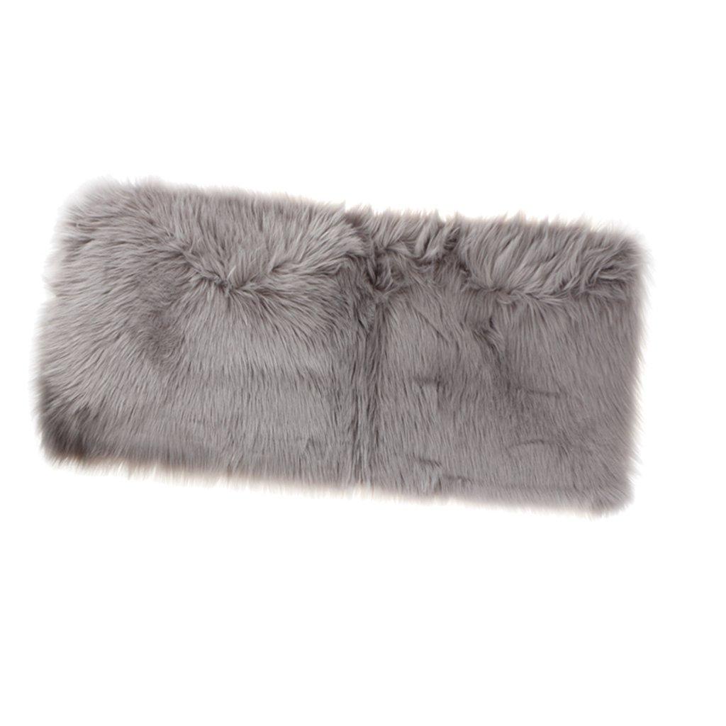 MonkeyJack Artificial Sheepskin Rug Furry Home Car Seat Cushion Fluffy Float Window Mat - Grey