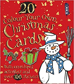 colour your own christmas cards with envelopes amazon co uk