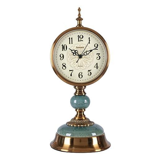 Relojes de chimenea FOOFAY Familiares Reloj de Mesa Vintage Mute ...