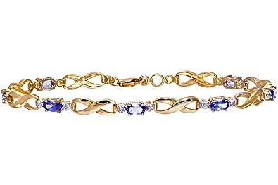 3cbf2b3e5b Naava - Bracelet Femme - Or Jaune 375/1000 (9 Cts) 4.7 Gr - Diamant ...