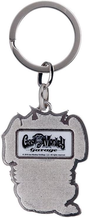 Gas Monkey Garage Schl/üsselanh/änger Logo Black /& White