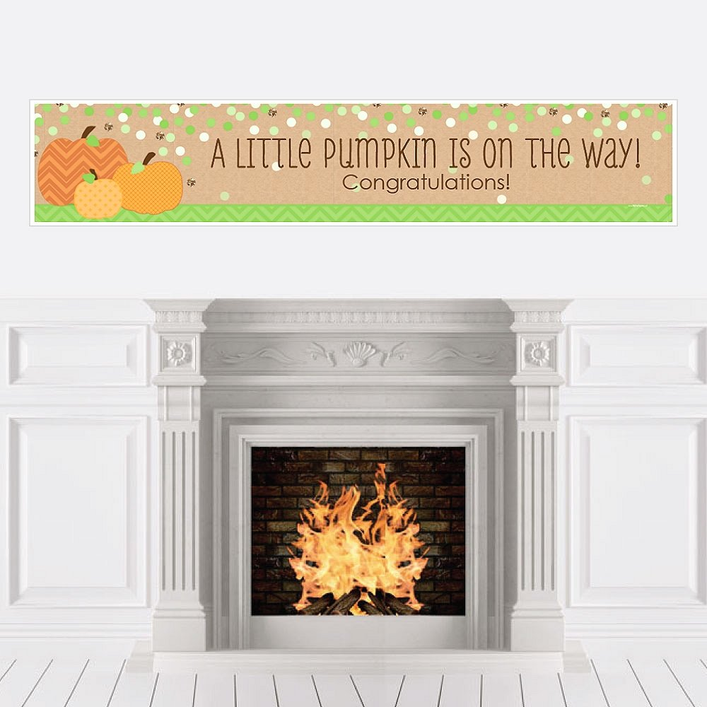 Big Dot of Happiness Pumpkin Patch - Fall Baby Shower Decorations Party Banner