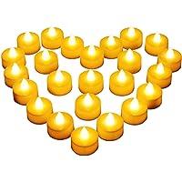 Diyife Vela LED, [24 PC] Luces de Té sin Llama Velas Led de Té Velas Eléctricas con Baterías [Amarillas Cálidas] Día de…